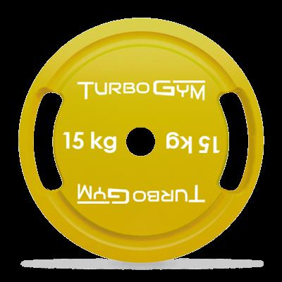 Диск стальной для пауэрлифтинга 15 кг Turbogym