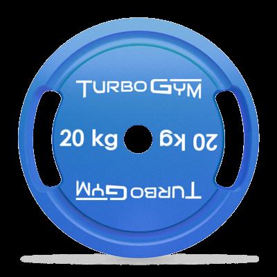 Диск стальной для пауэрлифтинга 20 кг Turbogym