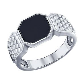 Кольцо с ониксом 94011387 SOKOLOV