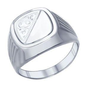 Печатка из серебра с гравировкой 94011506 SOKOLOV