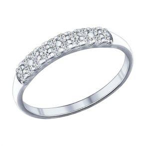 Кольцо из серебра с фианитами 94011718 SOKOLOV