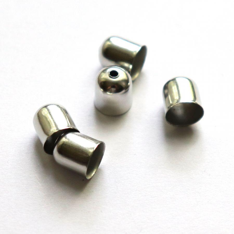 Колпачок, с отверстием, D-8 мм, Никель, 10 шт/упак