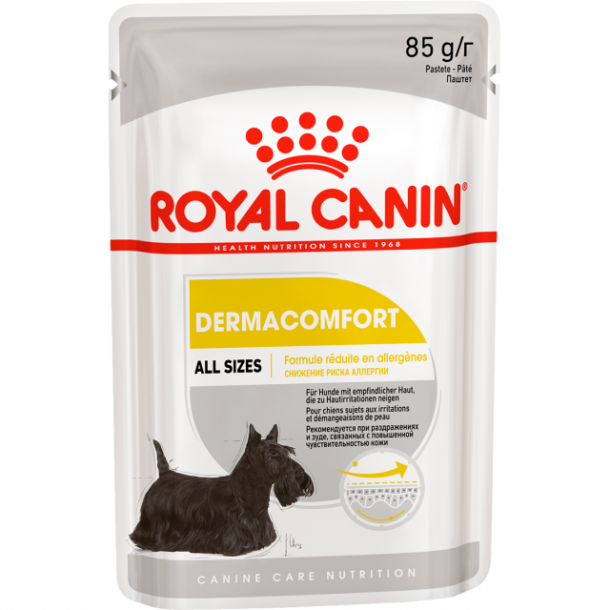 Консервы Royal CaninDermacomfort Pouch Loaf паштет для собак с чувствительной кожей, склонной к раздражению и зуду 85 г