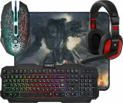 НОВИНКА. Игровой набор Target MKP-350 мышь+клавиатура+гарнитура+ков.