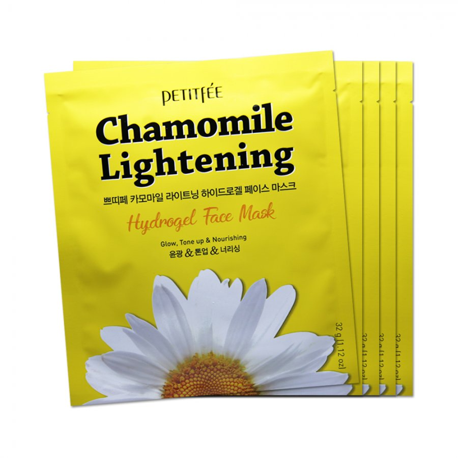Гидрогелевая маска для лица c РОМАШКОЙ Petitfee Chamomile Lightening Hydrogel Face Mask