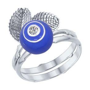 Наборное кольцо из серебра 94012205 SOKOLOV