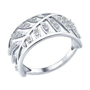 Кольцо из серебра с фианитами 94012250 SOKOLOV