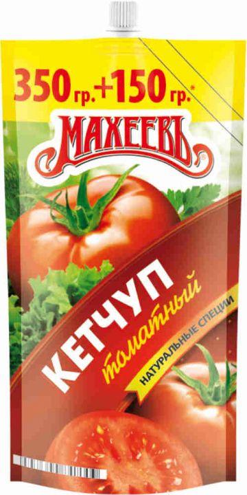Кетчуп МАХЕЕВЪ томатный д/п 500г