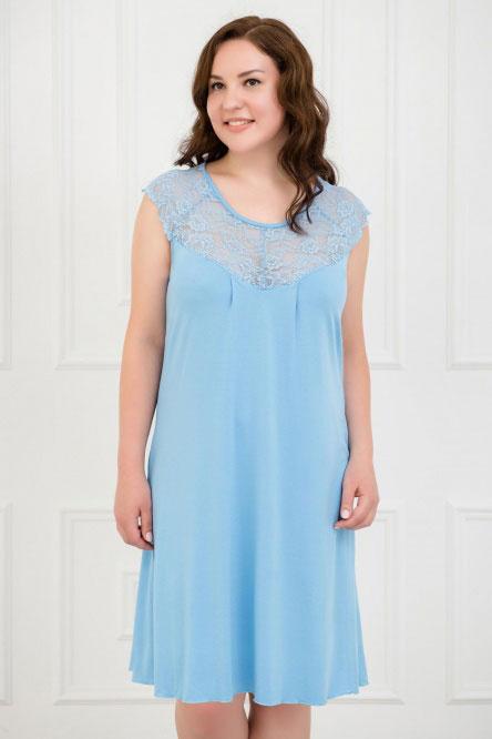 Ночная сорочка арт.0339-57 голубая, вискоза