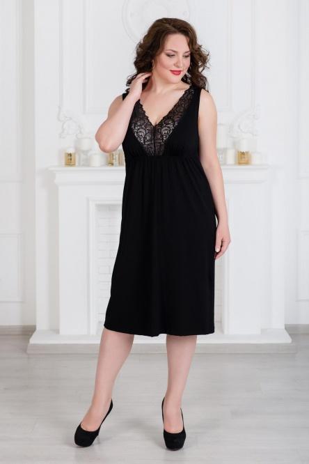 Ночная сорочка арт.0797-11 черная, вискоза