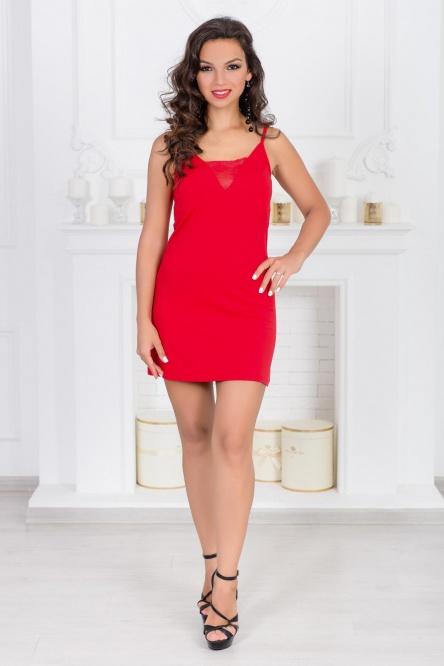 Ночная сорочка арт.0790-05 красная, вискоза