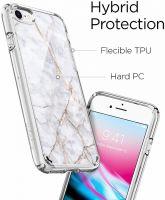 Купить оригинальный чехол Spigen Ultra Hybrid 2 Marble для iPhone 8 белый чехол для Айфон 8 в Москве в интернет магазине аксессуаров для смартфонов elite-case.ru
