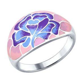 Кольцо из серебра с эмалью 94012268 SOKOLOV