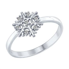 Кольцо «Снежинка» 94012358 SOKOLOV