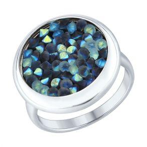 Кольцо из серебра с кристаллами Swarovski 94012430 SOKOLOV