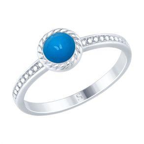 Кольцо из серебра с эмалью 94012465 SOKOLOV