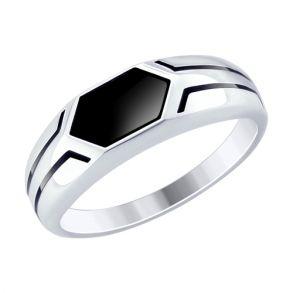 Кольцо из серебра с эмалью 94012519 SOKOLOV
