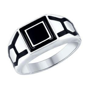 Кольцо из серебра с эмалью 94012537 SOKOLOV