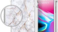 Купить чехол Spigen Ultra Hybrid 2 Marble для iPhone 7 белый чехол для Айфон 7 в Москве в интернет магазине аксессуаров для смартфонов elite-case.ru