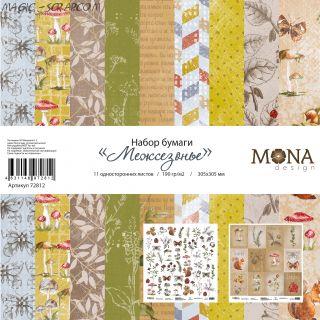 """Набор бумаги """"Межсезонье"""" от Mona Design"""