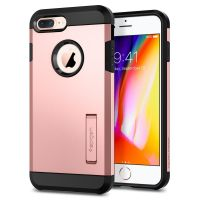 Купить чехол Spigen Tough Armor 2 для iPhone 7 Plus розовое золото противоударный чехол для Айфон 7 Плюс в Москве в интернет-магазине аксессуаров для смартфонов Elite-Case.ru