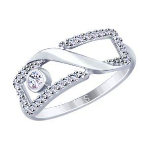 Кольцо из серебра с фианитами 94012647 SOKOLOV