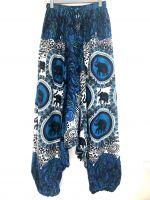 Красивые индийские штаны афгани со слонами. Интернет магазин Москва