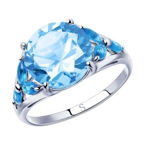 Кольцо из серебра с фианитами 94012797 SOKOLOV