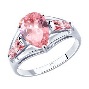 Кольцо из серебра с фианитами 94012818 SOKOLOV