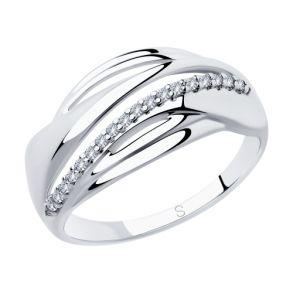 Кольцо из серебра с фианитами 94012888 SOKOLOV