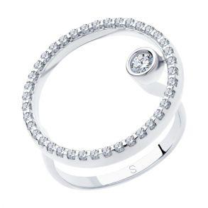 Кольцо из серебра с фианитами 94012992 SOKOLOV