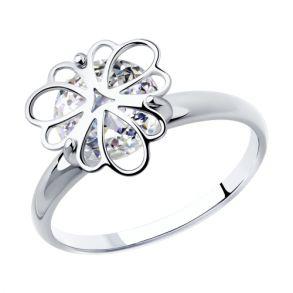 Кольцо из серебра с фианитом 94012987 SOKOLOV