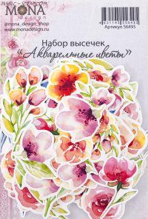 """Высечки """"Акварельные цветы"""""""