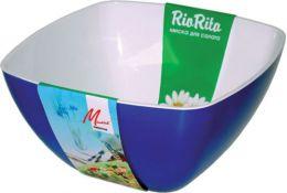 """Салатник пластиковый двухцветный 160х160 """"RioRita"""" Милих"""