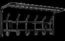 Вешалка настенная с полкой 6 крючков ВП6