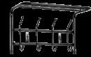 Вешалка настенная с полкой 4 крючка ВП4