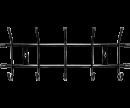 Вешалка настенная 5 крючков ВНТ5
