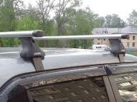 Багажник на крышу Hyundai Creta 2016-... без рейлингов, Атлант, аэродинамические дуги Эконом, опора Е