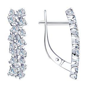 Серьги из серебра с фианитами 94023530 SOKOLOV