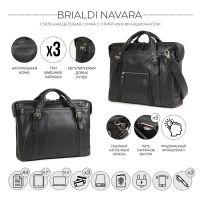Деловая сумка BRIALDI Navara (Навара) relief black