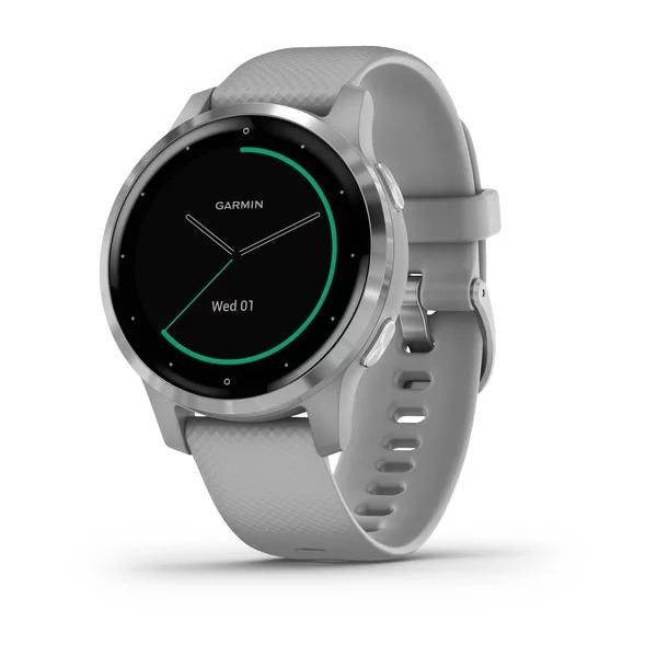 Часы Garmin Vivoactive 4s серые c серебристым безелем