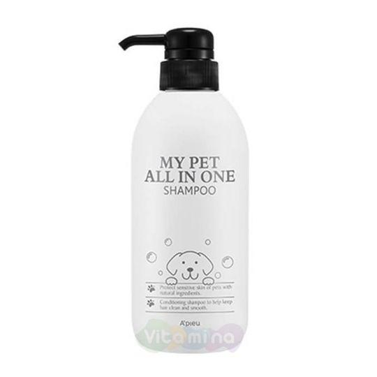 A'Pieu Шампунь для питомцев My Pet All In One Shampoo, 480 мл