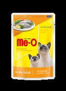 Me-O Влажный корм для кошек макрель в желе, 80г