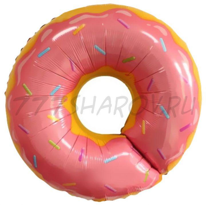 фигура Пончик розовый, 69 см с гелием