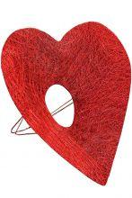 Каркас для букета Сердце d 25 см. /цвет красный/
