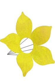 Каркас для букета Цветок d 25 см. /цвет жёлтый/