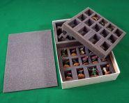Коробка с ложементом для миниатюр пехоты и больших моделей