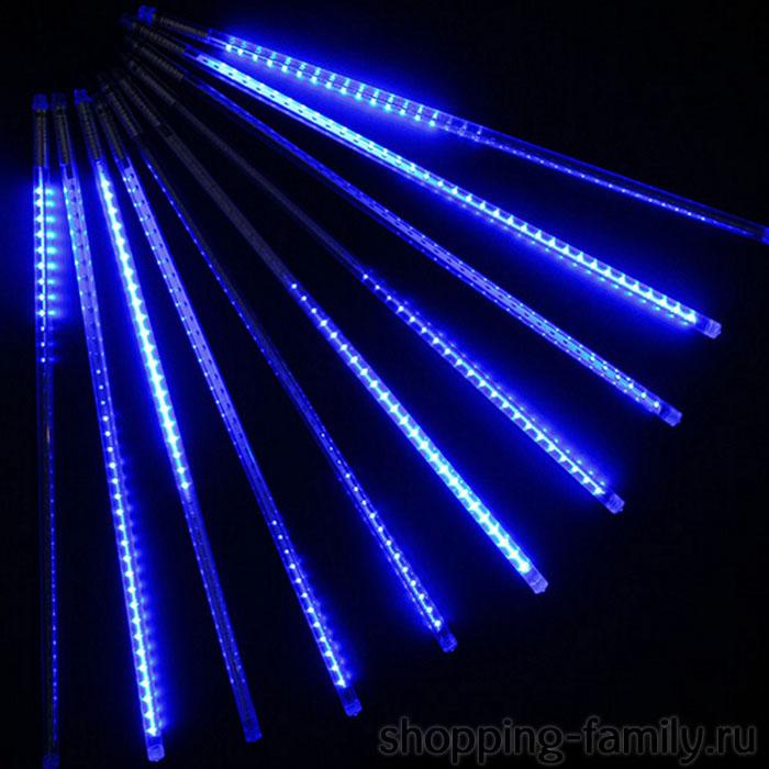 """Светодиодная гирлянда """"Тающие сосульки"""", 8 шт., 50 см., Цвет Синий"""