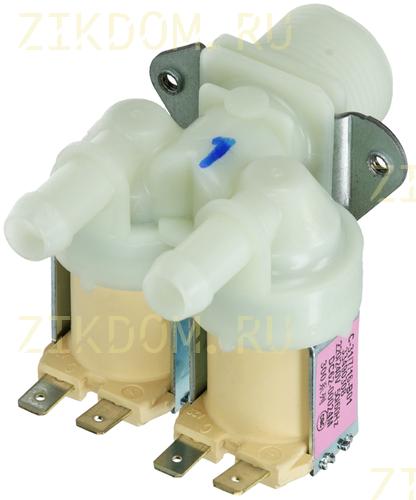 Клапан стиральной машины двойной прямой Samsung DC62-00024M