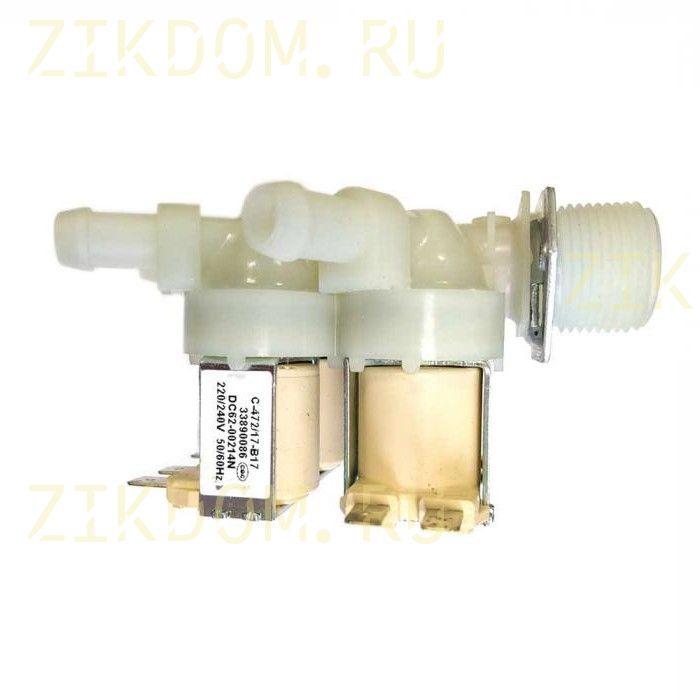 Клапан стиральной машины четырехклапанный прямой  Samsung DC62-00214N